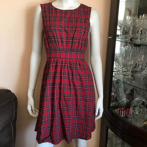 NWT Modcloth Liza Luxe Red Plaid Dress Small